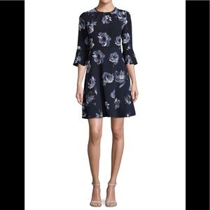 Kate spade might rose crepe dress rich navy S2 NWT